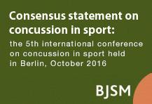 Consensus statement on concussion in sport